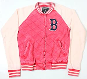 Boston Red Sox MLB Ladies Brownstein Baseball Snap Button Front Jacket by Wright & Ditson