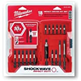 Milwaukee 48-32-4403 18-Piece Shockwave Impact Driver Bit Set