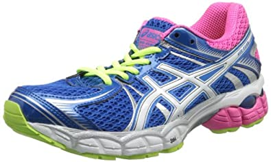 ASICS Women's GEL-Flux Running Shoe,Blue/White/Hot Pink,5 M US