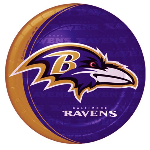 Hallmark Unisex Adult Baltimore Ravens Dinner Plates Black Medium