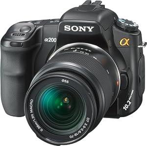 Sony Alpha A200K 10.2MP Digital SLR Camera Kit with Super SteadyShot Image Stabilization with 18-70mm f/3.5-5.6 Lens