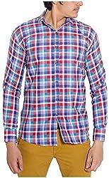 Oshano Men's Casual Shirt (OSH_017_m, Multi-Coloured, m)
