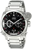 Oris Men's 690 7615 4154 MB BC4 Flight Timer Analog Display Automatic Self Wind Silver Watch