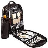 BRUBAKER Picknickrucksack Picknicktasche mit Inhalt für 4 Personen mit integrierter Kühltasche und abnehmbarer Flaschentasche