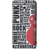 HTC Desire 610 (2014 Modell) H�lle Hardcase (Harte R�ckseite) Case Cover - Gitarre Muster Schutzh�lle f�r HTC Desire 610 - Wei� und Rot, Schwarz
