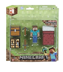 Minecraft Core Player Survival Pack Action Figure Toy, Kids, Play, Children