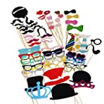 Tinksky Photo Booth Props 60 piece DI...