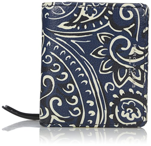 Details for Marc Jacobs Recruit Paisley Open Face Billfold Wallet, Rail Blue Multi, One Size from Marc Jacobs