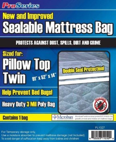 Proseries Heavy-Duty Sealable Mattress Bag Twin, Each front-959161