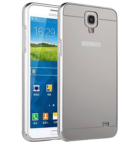 Galaxy Mega 6.3 I9200 Case, Ranyi [Mirror Series] Luxury Aluminum Metal Bumper Frame Detachable + Bling Mirror Hard Back Cover [Thin Fit & Slim] Case for Samsung Galaxy Mega 6.3 i9200 (silver) (Bumper For Samsung Mega compare prices)