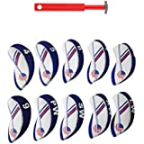Segolike 10 Pieces Neoprene Golf Club Iron Head Cover With Groove Sharpener