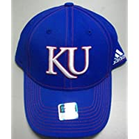 Kansas University Jayhawks Flexfit Hat by Adidas TF63Z