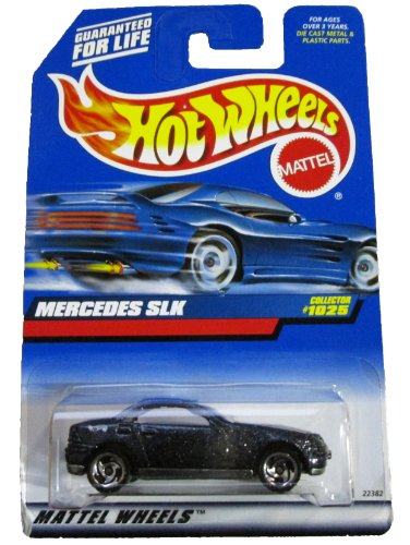 Hot Wheels 1999 1:64 Scale Blue Flake Mercedes SLK Die Cast Car Collector #1025