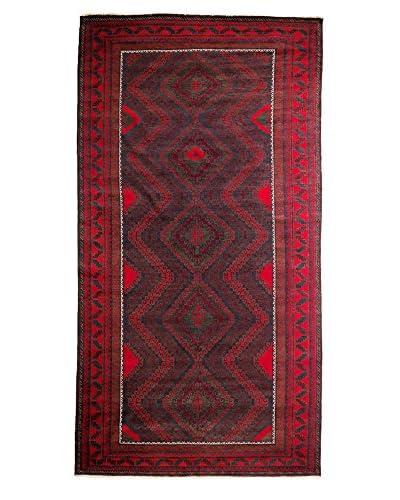 Darya Rugs Tribal One-of-a-Kind Rug, Black, 12' 5 x 6' 7