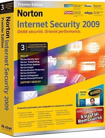 Norton Internet Security Premier 2009 + Norton Ghost 12  (3 Postes / 1 An)