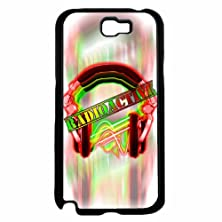 buy Radioactive Colorful Headphones - Plastic Phone Case Back Cover (Samsung Galaxy Note Ii 2 N7100) Includes Bleureign(Tm) Cloth And Warranty Label