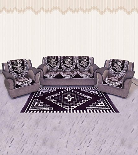 Zesture Bring Home Premium 10 Piece Sofa And Chair Cover Set