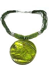 Green Emerald Necklace-fashion Jewelry