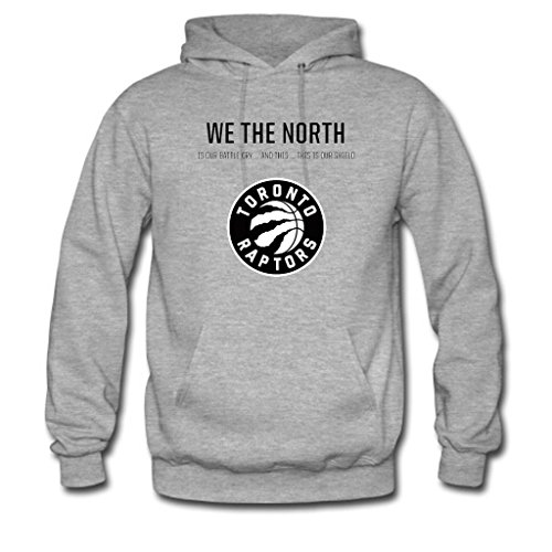 Soothing Men's and Women's Unisex Custom toronto raptors Classic Hoodie XL Grey