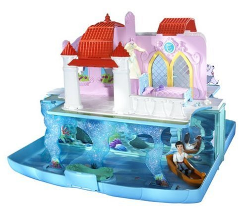 Buy Low Price Mattel Disney Princess Little Mermaid Ariel Pop-up Castle Playset Figure (B000E36VBK)