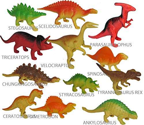 Pack of 12 DINOSAUR TOYS 5