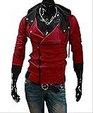 (アルファーフープ) α-HOOP メンズ ファッション アウター 襟 広め フード 付き パーカー ジャケット M ~ XXL まで 大きい サイズ も 大人 男 性 用 DP-1 (21..赤(Mサイズ))…