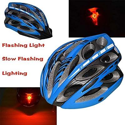 LONOVE Cycling Bicycle Bike Helmet with Visor for Men Women Girl Red Light, Large, Matte Blue from Shen Zhen Shi Shang Ge Li Electricity Co., Ltd