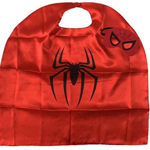 Starkma Kids Girl And Boy Spider Superhero Cape + mask Costume B06