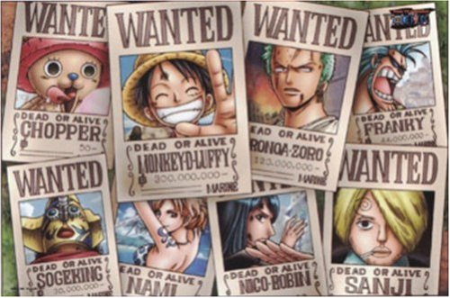 One Piece Straw Hat Crew Wanted Poster Puzzle 1000 Piece [Toy] (japan import)