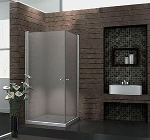 Echt Glas 8 mm Duschkabine Duschabtrennung Dusche Rahmenlos 80 x 80 x 190 cm SPAFROST ohne Duschtasse  BaumarktKundenbewertung und Beschreibung