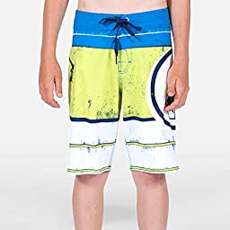 Volcom Big Boys\' Lido Ion Boardshort, White, 27