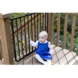 """Cardinal Gates Stairway Special Outdoor Gate - SS-30OD - Black - 27 to 42.5"""""""
