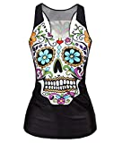 RedExtend Women's Color Skull Slim Gym Sport T-Shirt