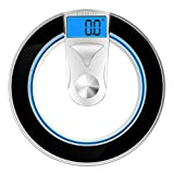 Etekcity Digital Body Weight Bathroom Scale, High Precision, 400lb /180kg, Black/Silver