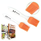 Mahal Silicone Basting Pastry Oil Brush Set -2 Recipe eBooks- Good for Grilling Marinating Turkey Baster and Barbecue Utensil - Desserts Baking