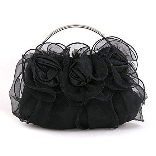 D.jiani® Borsa da sera frizione moda Rose