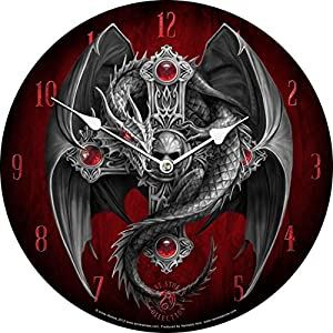 Licensed Anne Stokes Curiosity Corner Gothic Guardian Wall Clock by PTC