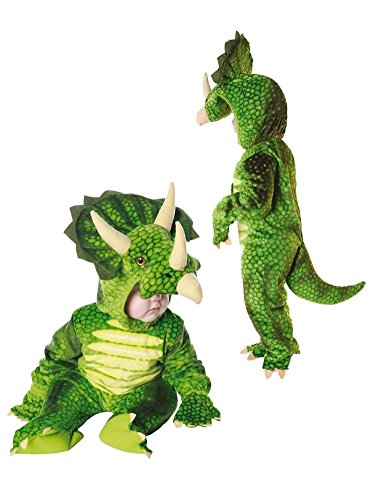 Underwraps Infant Boys Plush Green Triceratops Dinosaur Costume 6-12 Months