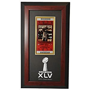 Caseworks Super Bowl XLV Green Bay Packers vs. Pittsburgh Steelers Dueling Mahogany Ticket Display Case
