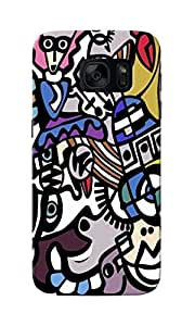 CimaCase Abstract Designer 3D Printed Case Cover For Samsung Galaxy S7