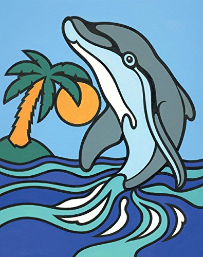 Reeves Dolphin Painting Set by Numbers, Mini