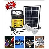 10-Watt Solar Generator Portable kit,Power Inverter,Solar Generator System for Home & Camping,9000mAh Rechargeable Battery Pack UPS Power Supply, Included 6 Watt Solar Panels (YellowWo)