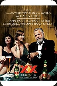 tin sign of dos equis beer most interesting man in the