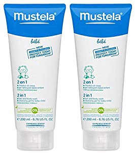 Mustela Bebe Range 2 in 1 Hair & Body Wash - 6.8 fl oz - 2 pk