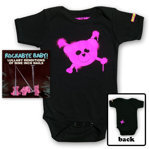 Rockabye Baby! Lullaby Renditions Of Nine Inch Nails + Organic Baby Bodysuit (Pink) front-193189