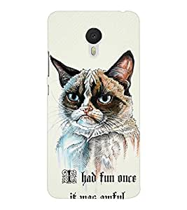 EPICCASE Grumpy cat Mobile Back Case Cover For Meizu M3 Note (Designer Case)