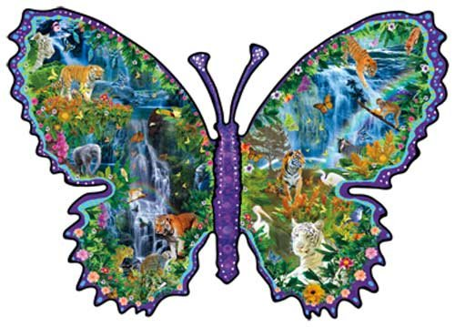 Rainforest Butterfly a 1000-Piece Jigsaw Puzzle by Sunsout Inc.