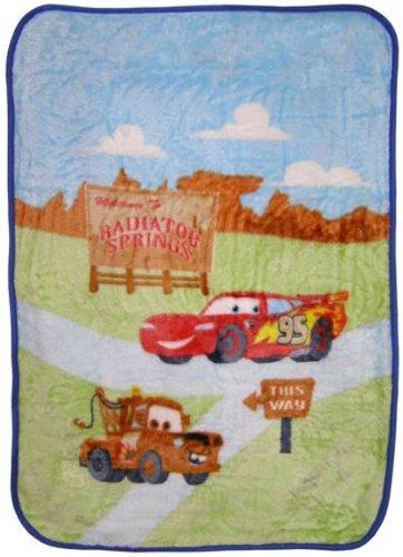 Disney Baby Bedding Cars Radiator Springs Luxury Plush Blanket front-108690