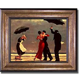Singing Butler by Jack Vettriano Premium Bronze-Gold Framed Canvas (Ready-to-Hang)