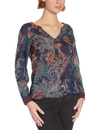 MEXX Damen Bluse N1ISB011, Gr. 44 (XXL), Violett (547)